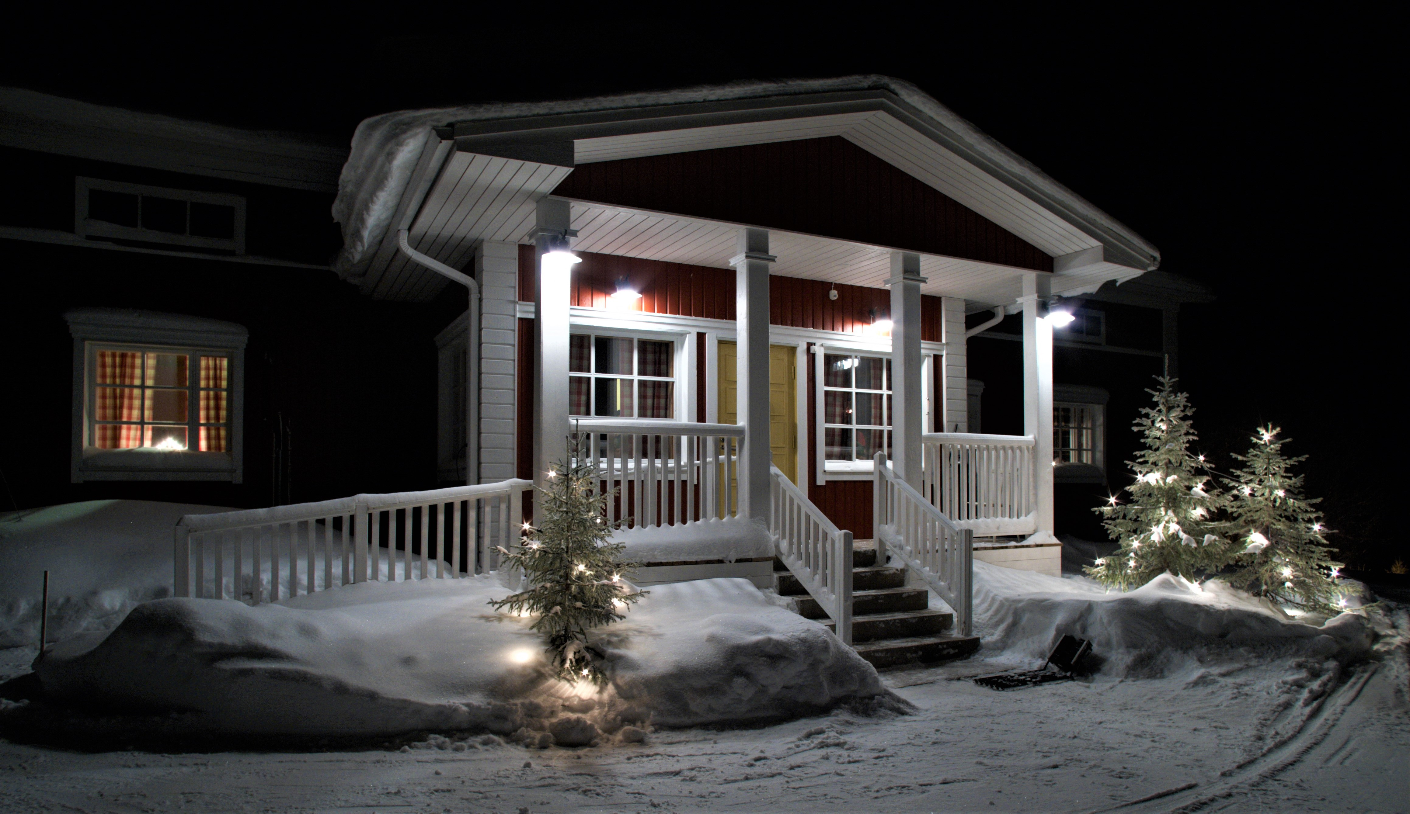 A Finnish house at Christmas