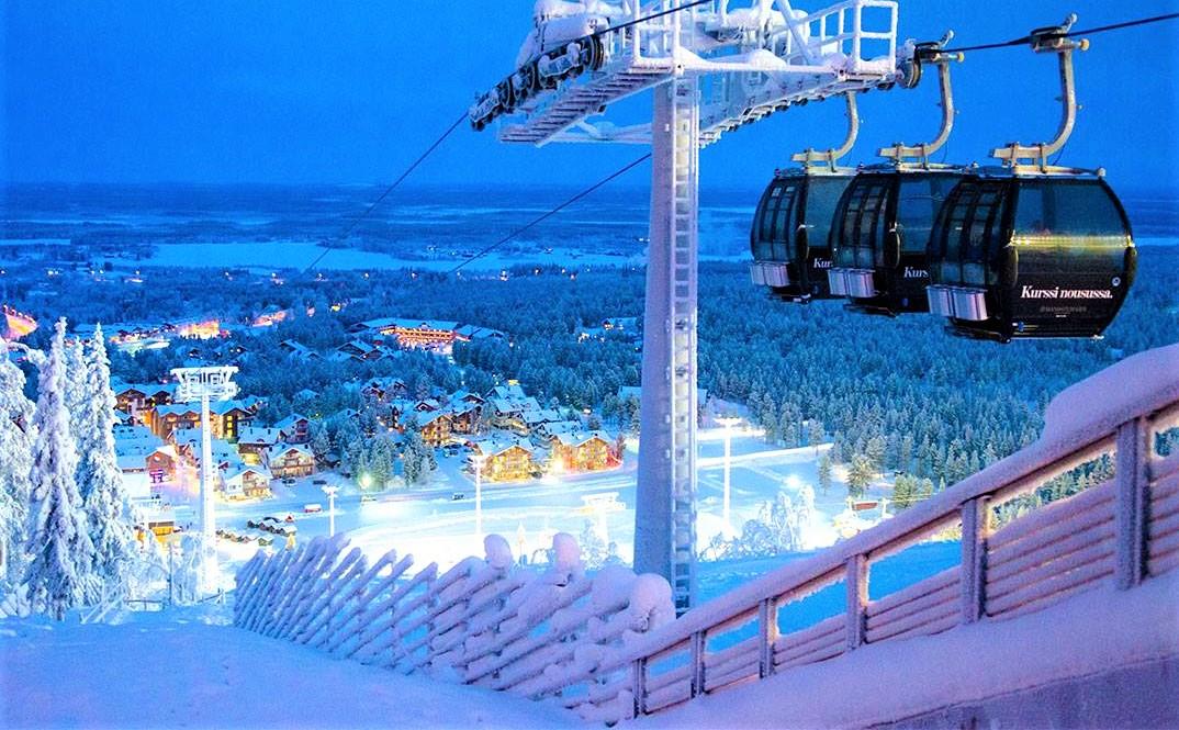 Levi Ski Resort at Night