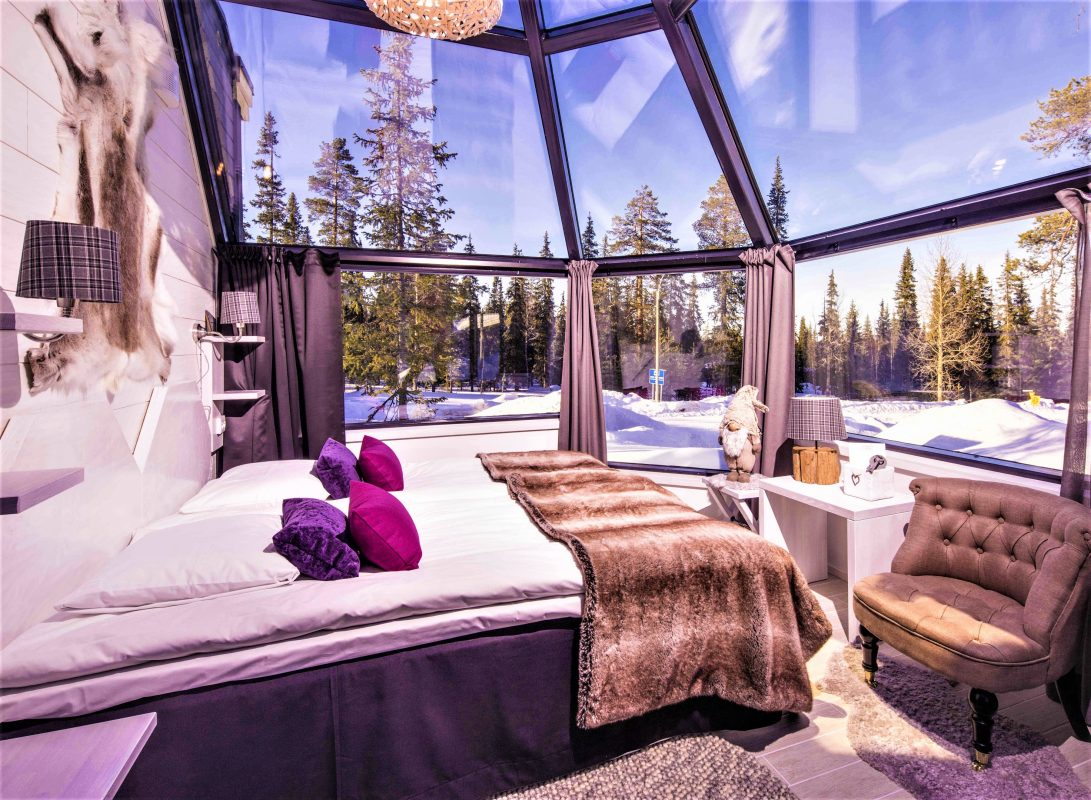 Santa S Hotel Aurora Glass Igloos Discovering Finland